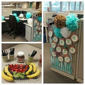 birthday cubicle decoration ideas home