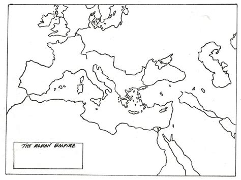 blank map of empire middle school history rome