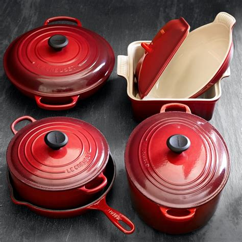 le creuset iron cast stoneware piece cookware sonoma sets williams lodge cooking outlet limited utensils
