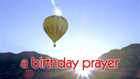 birthday prayer message youtube