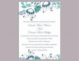 diy wedding invitation template editable word file instant With wedding invitation wording editing