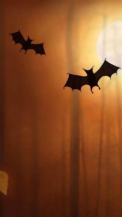 Halloween Iphone Bats Wallpapers Illustration Desktop Iphonewalls