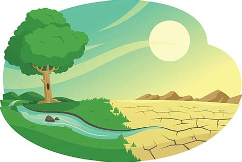 Royalty Free Desertification Clip Art, Vector Images