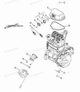 Polaris Atv 2007 Oem Parts Diagram For Engine  Throttle