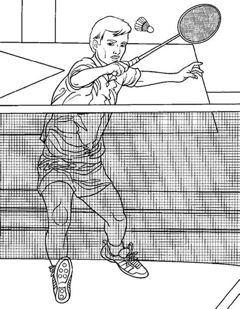 chambre 3d en ligne coloriage sports badminton à colorier allofamille