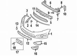 2011 Ford Fusion Hybrid Bumper  U0026 Components Diagram