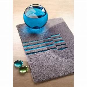 tapis salle de bain bleu turquoise With tapis de salle de bain bleu