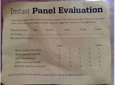 Four important truths about conference evaluations
