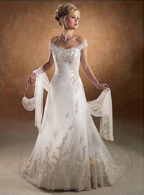 shoulder lace wedding dress