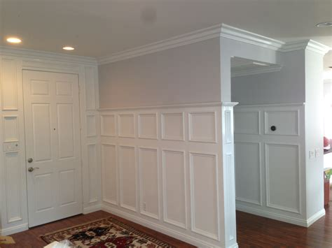 pictures  crown moulding wainscoting cabinet refacing