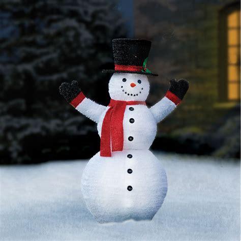 the prelit pop up snowman hammacher schlemmer