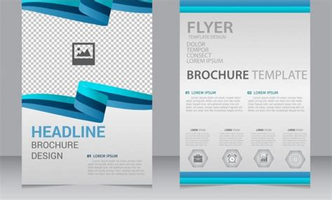 Templates For Flyers And Brochures Free by Vector Business Brochure Flyer Template Free Downl With