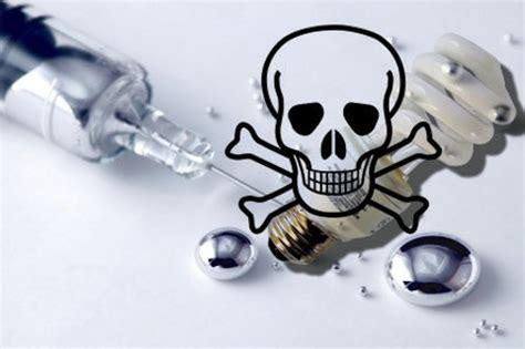 send your broken fluorescent light bulbs and vaccine