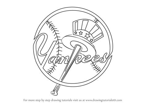 yankees logo coloring pages coloring pages