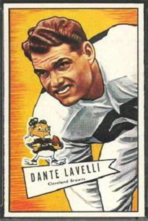 Dante Lavelli by Dante Lavelli 1952 Bowman Large 128 Vintage Football