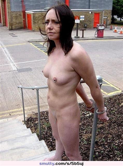 Bdsm Slave Nude Brunette Pierced Bound Outdoors