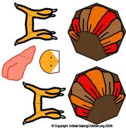 free thanksgiving turkey paper toys model make printable foldable turkeys paper crafts for