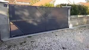 Portail Sur Mesure : portail coulissant sur mesure youtube ~ Melissatoandfro.com Idées de Décoration