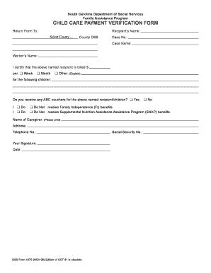 sc dss child care forms sc dss from 1670 fill online printable fillable blank
