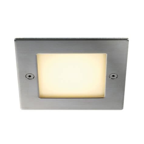 intalite ip44 exterior frame outdoor 16 led recessed wall