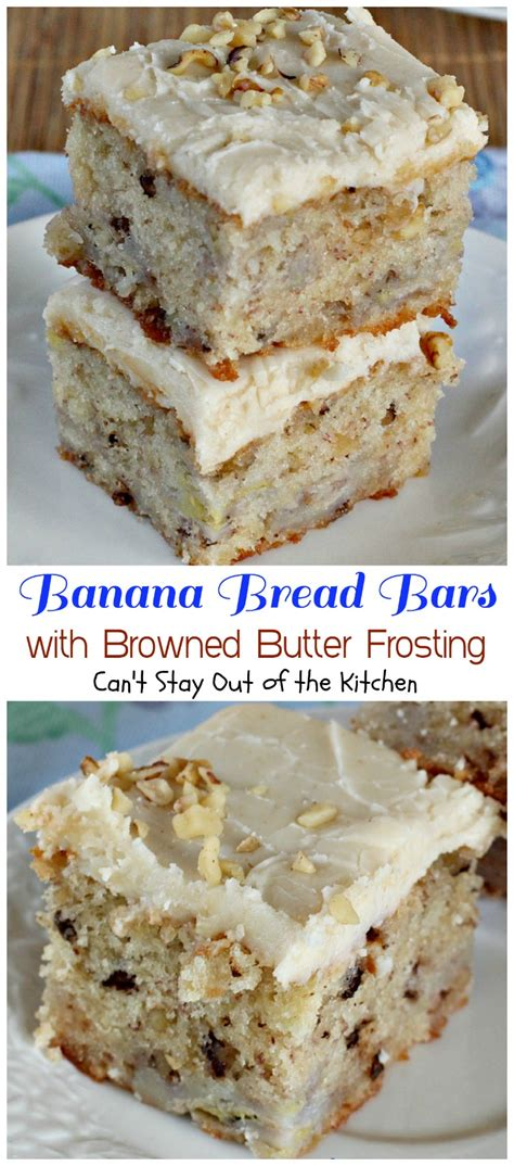 banana bread bars  browned butter frosting