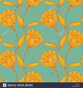 Papier Peint Fleuri Vintage : un style anglais vintage papier peint fleuri tuiles sans couture avec crocus comme des fleurs en ~ Melissatoandfro.com Idées de Décoration
