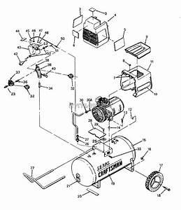 Sears Craftsman 919 155731 Air Compressor Parts