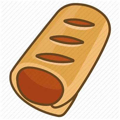 Bakery Sausage Clipart Pastry Roll Icon Strudel