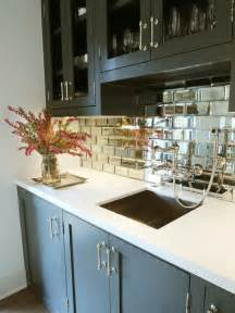 mirrored kitchen backsplash small beveled mirror tiles a statement backboard for my buffet which is