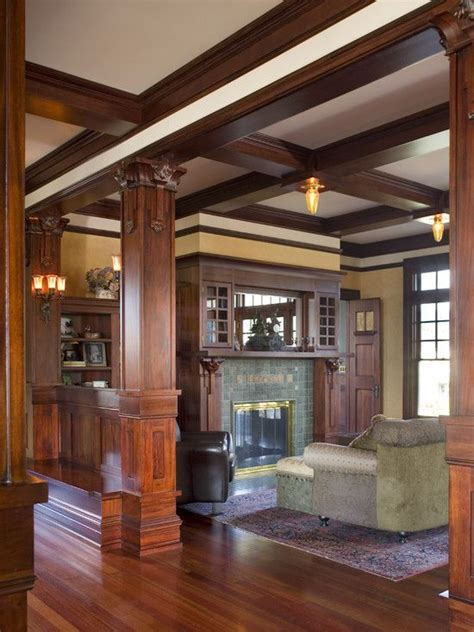 traditional living room craftsman design pictures