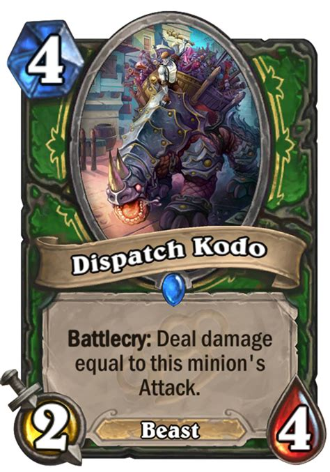 Hearthstone Beast Deck 2016 by Dispatch Kodo Hearthstone Card