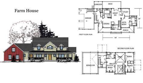 Barn House Combination Plans Farm   Home Building Plans