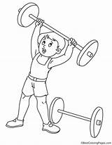 Coloring Weight Lifting Pages sketch template