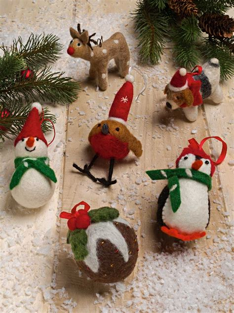 handmade felted christmas decorations peter christian