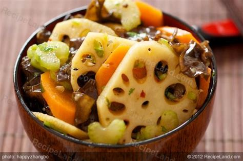 lotus root  wood ear salad  soy ginger dressing recipe