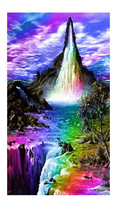 Fantasy Iphone Cascata Phoneky Fantasia Immagini Wallpapers