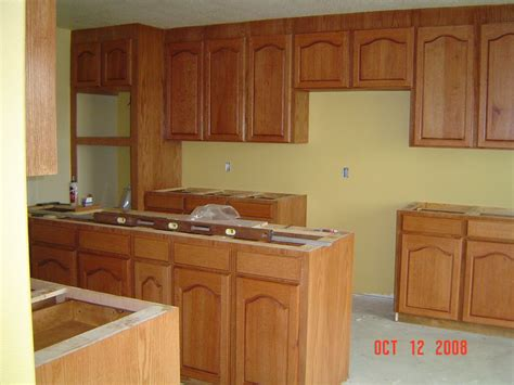 phil starks red oak kitchen cabinets