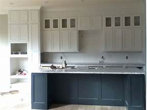 white uppers gray lowers sherwin williams iron ore With kitchen colors with white cabinets with iron workers stickers