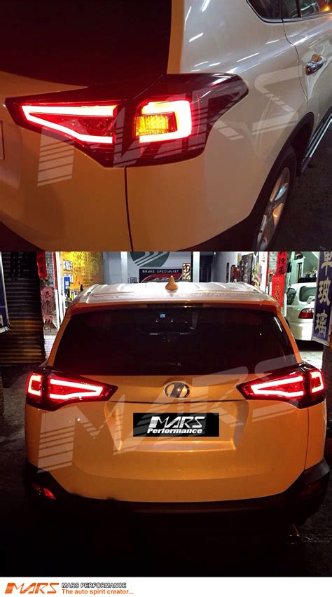 Smoked Black 3D Stripe Bar LED Tail lights for Toyota RAV4 ...