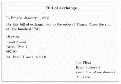 bill  exchange law