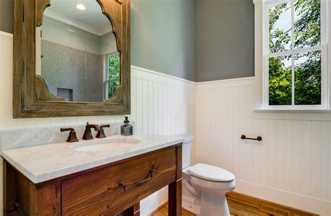 flipboard bathroom wainscoting