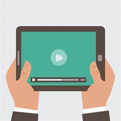 Tablet Clipart Computer Holding Vector Screen Businessman