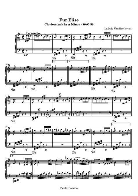 la partituras de piano fur elise descarga pdf