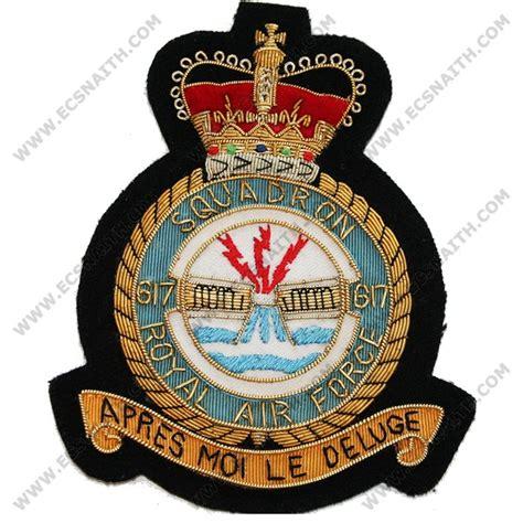 Raf 617 Sqn E11r Blazer Badge  Ecsnaith And Son Ltd