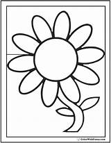 Coloring Daisy Flower Preschool Outline Pdfs Customizable Clipartmag Colorwithfuzzy sketch template