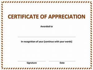 microsoft and open office templates With microsoft word certificate of appreciation template