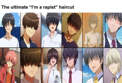 how to spot the hentai protagonist animemes