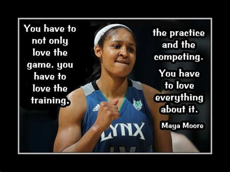 basktball motivation maya moore photo quote poster
