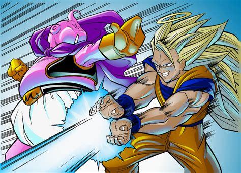 Majin L Vs Goku by Goku Vs Buu By Thenass On Deviantart