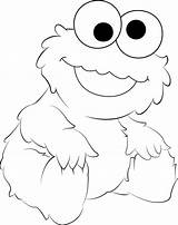 Coloring Cookie Monster Pages Elmo Baby Printable Drawing Template Ausmalen Face Ausmalbilder Cookies Print Tattoo Kekse Sesame Street Templates Sketch sketch template